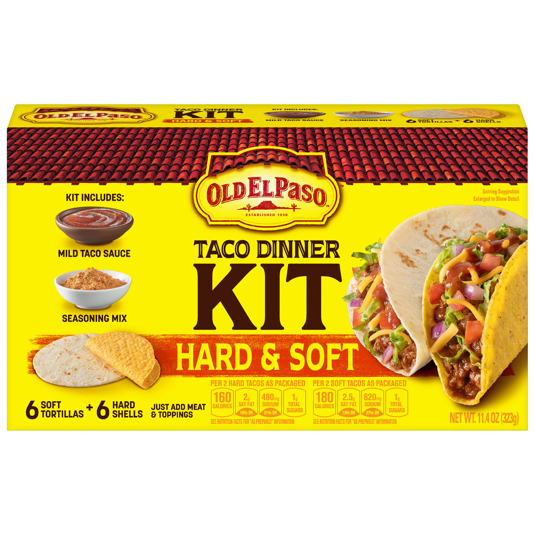 Old El Paso Hard and Soft Taco Dinner Kit - 11.4oz, 5pk