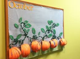 This Was My October Bulletin Board The Leaves Have Names Of People With Birthdays