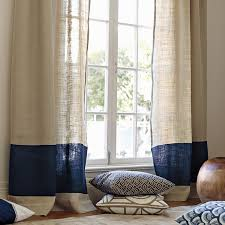 Smocked Burlap Curtain Panels by Persuasive Burlap Curtains Home And Textiles
