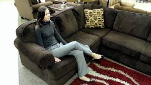 Chocolate Corduroy Sectional Sofa by Ashley Vista Chocolate 3 Piece Sectional Youtube