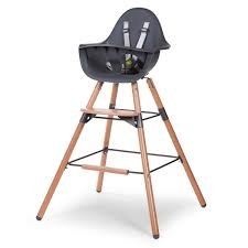 Evolu 2 High Chair In Anthracite/Natural