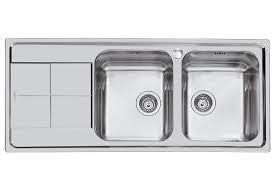 Kitchen Sinks With Drainboard Built In by Double Kitchen Sink Stainless Steel With Drainboard Ks 116 2