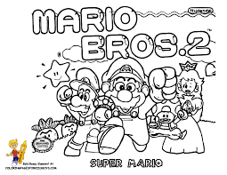 Super Mario Bros Characters Coloring Pages