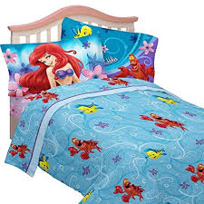 amazon com 8 piece full size disney little mermaid comforter