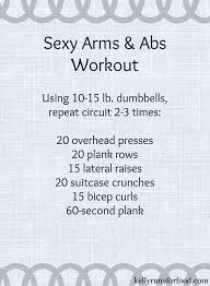y Arms and Abs Workout Kelly Runs For Food