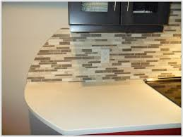 glass mosaic tile backsplash edge tiles home decorating ideas