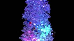 Fiber Optic Christmas Tree Color Wheel Replacement by Rotating Led Illuminated Tree Snow Globe Ornament 25cm Youtube