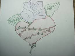 Drawn Rose Grafitti 12