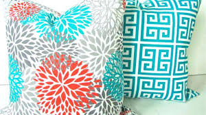 Architecture Decor Tips Set Of 2 Floral Geometric Bohemian Outdoor Pillows For With Modern Regarding Residence