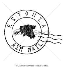 Estonia Post fice Air Mail Vector