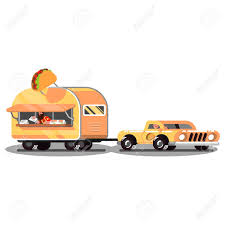 Mexican Food Truck On Road Royalty Free Cliparts, Vectors, And Stock ...