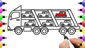 How To Draw Car Carrier For Kids Learn Colour | Truck Coloring Page ... 2000 Kenworth W900b Car Carrier Truck For Sale Auction Or Lease Toy Transport For Boys And Girls Age 3 10 Semi Matchbox Large 18 Learn Colors With Car Carrier Truck Coloring Book Super Megatoybrand Hauler Transporter 6 Cars Wvol Military Kids Includes Long 28 Slots Friction Powered 3d Free Download Of Android Version M Trailer With On Bunk Platform Empty Intended To Deliver New Auto Batches Stock
