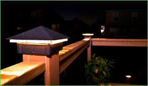lighting composite bench seating with moonlight decks post