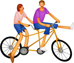 Riding A Bike Clipart
