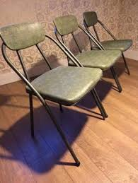 vintage folding chair mid century modern by samsonite 1950s by