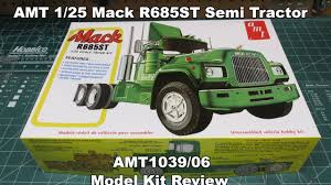AMT 1/25 Mack R685ST Semi Tractor Model Kit Review AMT1039 - YouTube
