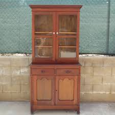 Early American Style Maple Hutch Cabinet And Buffet EBTH Living