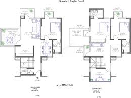 Small Duplex Floor Plans by Duplex House Plans With Garage J022213d Duplex Design With Garage