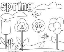 Free Coloring Pages For Spring 20 Printable About