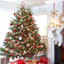 Decorating Christmas Tree With Wide Mesh Ribbon Best Images On