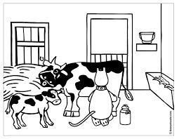 Coloriage De Vache Et Veau A Imprimer Race Bovine