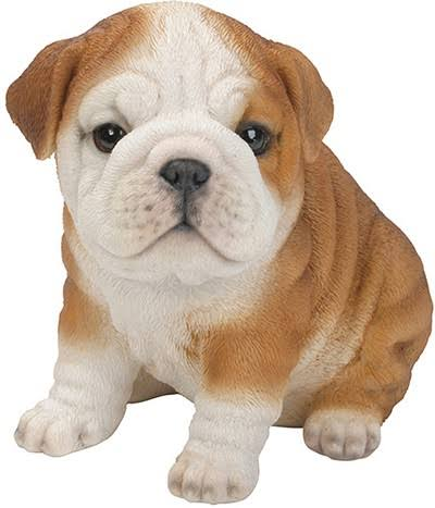 Natures Gallery Bulldog Puppy Statue