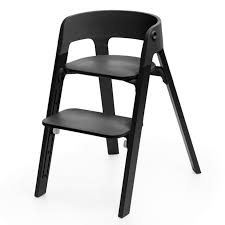 Stokke - Steps Chair - Oak Black Legs With Black Seat