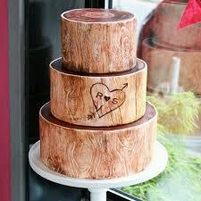 Stylish Decoration Wood Wedding Cake Wondrous Ideas