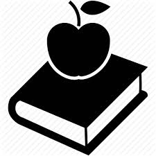 Apple Book Break Food Lunch Time Icon