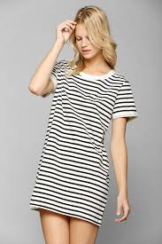 black and white thin striped tee dress best friends for frosting