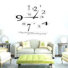 Small Wall Clocks For Living Room Decor Clock Removable Modern Design Sticker Home