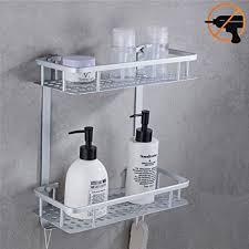 duschkorb dusch ablage duschregal aluminium rostfrei ablage