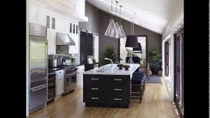 e wall kitchen design with island