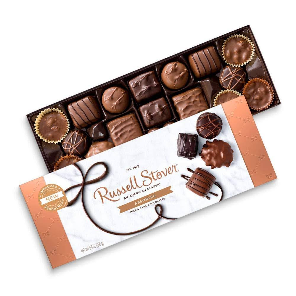 Russell Stover Milk Chocolate, Assortment - 16 pieces, 9.4 oz