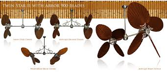 50 inch double twin star ceiling fan with abor 900 blades