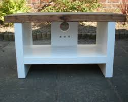 Tv Stand In Rustic Style Mid Range Depth LCD Unit 34 Cm Deep