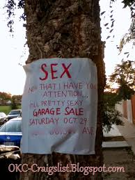 GARAGE SALE SIGN OF THE WEEK Made ya look