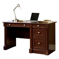Sauder Shoal Creek Desk by Sauder Palladia Entertainment 70 In Credenza Wind Oak Hayneedle