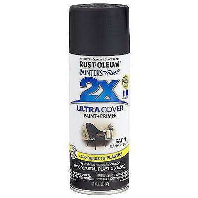 Rust-Oleum Painter's Touch Multi Purpose Spray Paint - 12oz, Satin Canyon Black