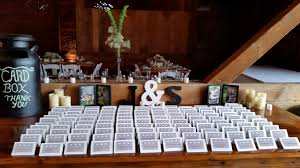 The Country Barn Wedding Placecards Welcome Table