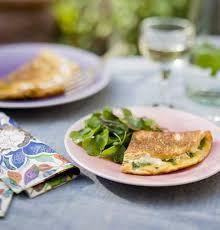 recette de cuisine corse recette omelette corse au brocciu et à la menthe