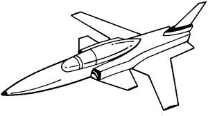 Jet clipart coloring 1