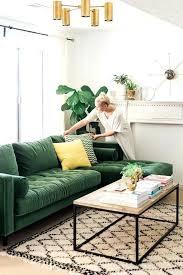 Living Room With Green Sofa Sage