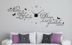 details zu wanduhr nimm dir zeit glücklich aufkleber wandaufkleber wohnzimmer wandtattoo