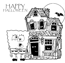 Sponge Bob Halloween Coloring Pages For Kids