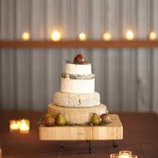 Wheels Of Cheese Tiered Wedding Cake