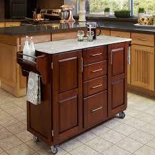 Classic Kitchen Ideas with Wooden Dark Brown Movable Kitchen