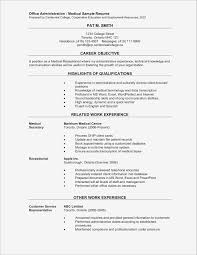 Administrative Assistant Resume Objective Elegant Fice Administration Medical Sample Prepared Centennial Ideas Of