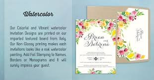 Letterpress Wedding Invitation Manila Philippines Watercolor