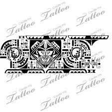 Polynesian Tribal Tattoo On Unique Armband 2 17803